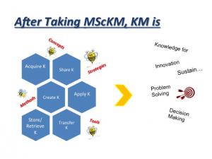 After taking MScKM Program