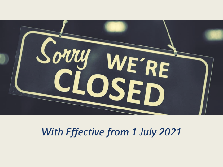Sorry...we are closed down